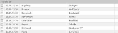 30 kolejka Bundesligi jakie mecze